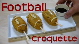 American Football Croquette Recipe アメリカンフットボール コロッケ