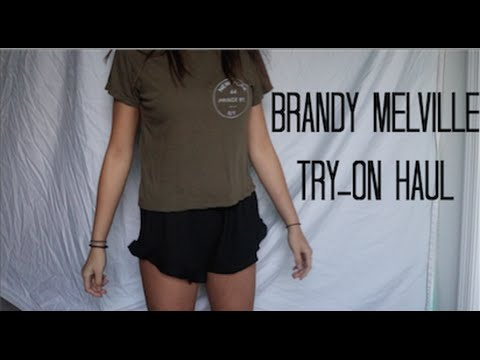 BRANDY MELVILLE UNBOXING & TRY ON HAUL