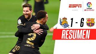 ¡DOBLETE DE MESSI Y PALIZA! | Real Sociedad 1-6 Barcelona | RESUMEN