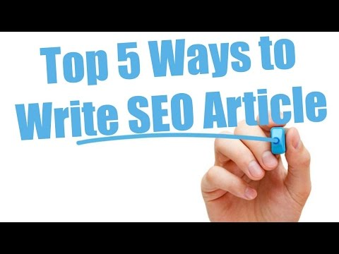 How to write a seo article