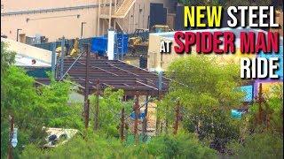 New Steel at Spider Man building! - Disneyland Construction   04/20/19 pt 59