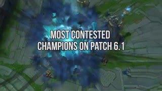 Most contested picks on Patch 6.1
