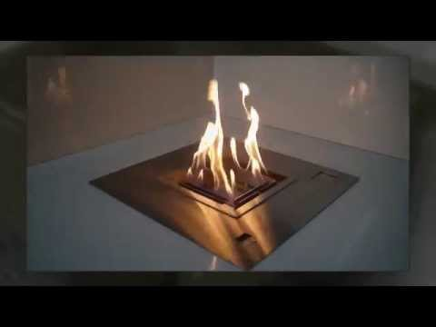 BC50 Remote Controlled Electronic Ethanol Fireplace Insert by aFire
