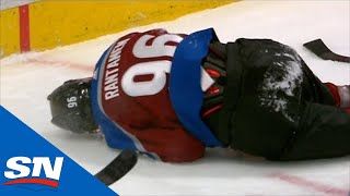 Mikko Rantanen Crashes Into Boards And Leaves Game Injured