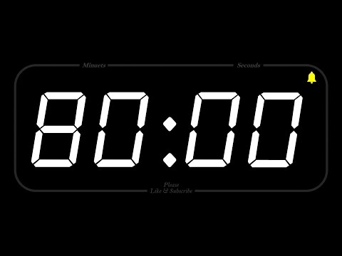 80 MINUTE  TIMER & ALARM  1080p  COUNTDOWN