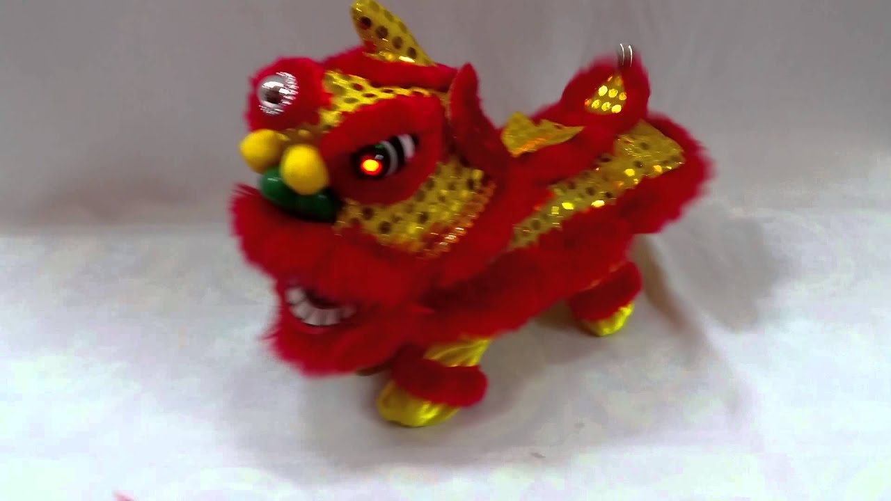 醒獅賀歲 Mini Lion Dance Toy Youtube