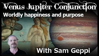 Venus Jupiter Conjunction   Worldly Happiness and Purpose