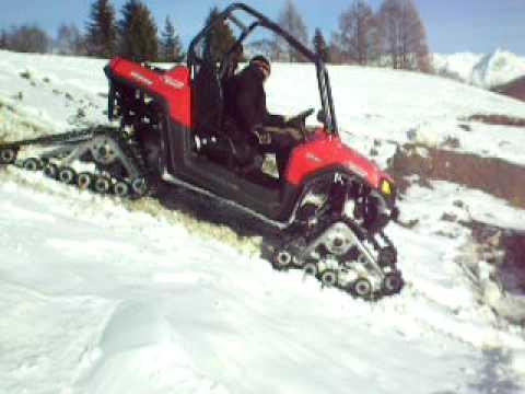POLARIS Ranger RZR mit Raupen im Schnee.AVI - YouTube