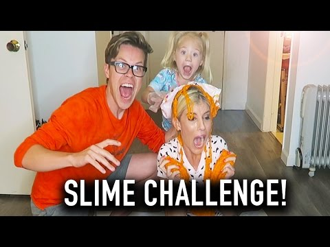STICKIEST SLIME POURED ON REBECCA'S HEAD - (DAY 136) CHALLENGE