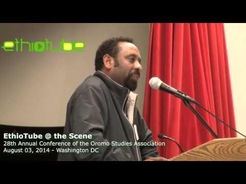 Tesfaye Gebreab speaking at 2014 Oromo Studies Association Conference