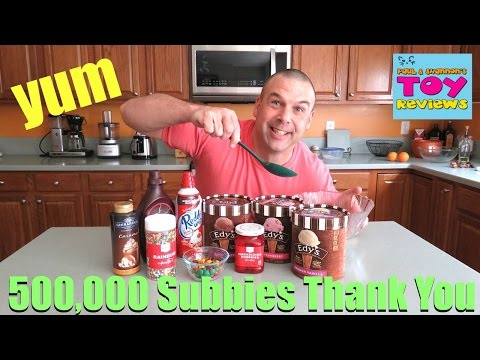 500k Subscriber Huge Ice Cream Sundae YouTube Thank You Video | PSToyReviews