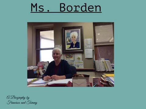 About Mrs. Borden - By Radnor Elementary School Students