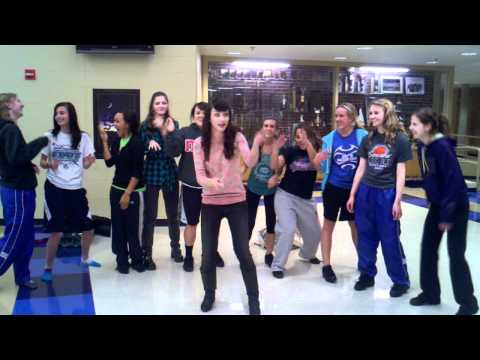 Amy Heidemann  Karmin singing the rap part of Look At Me Now with the SHS dance team
