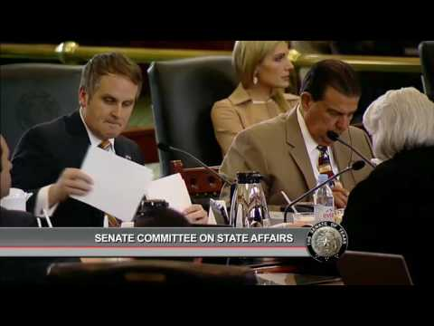 Texas Senate Committee on State Affairs Meeting - March 13, 2017