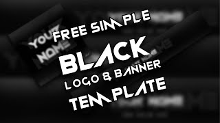 Free Simple Black Logo and Banner Template | D.U. Arts