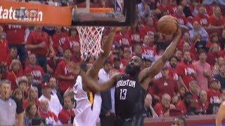 James Harden Insane DUNK ON Derrick Favords!   Jazz vs Rockets Game 2 2018  
