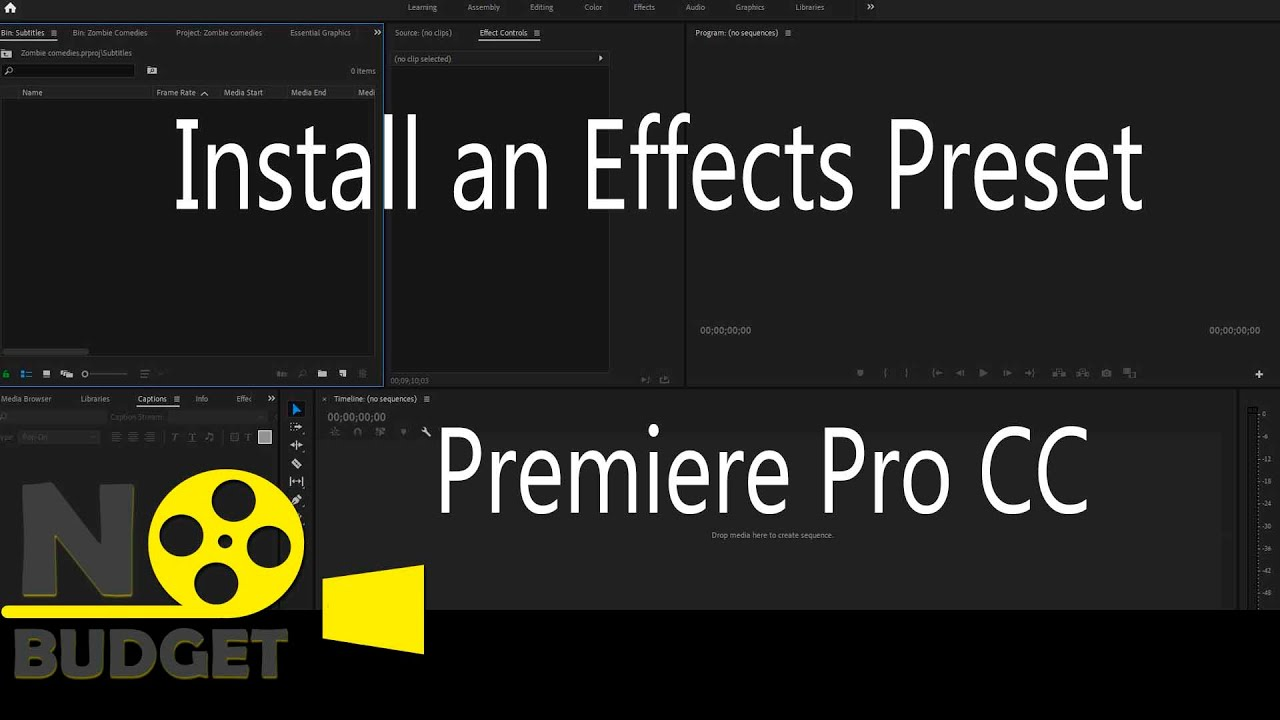 Install an Effects Preset in Premiere Pro CC