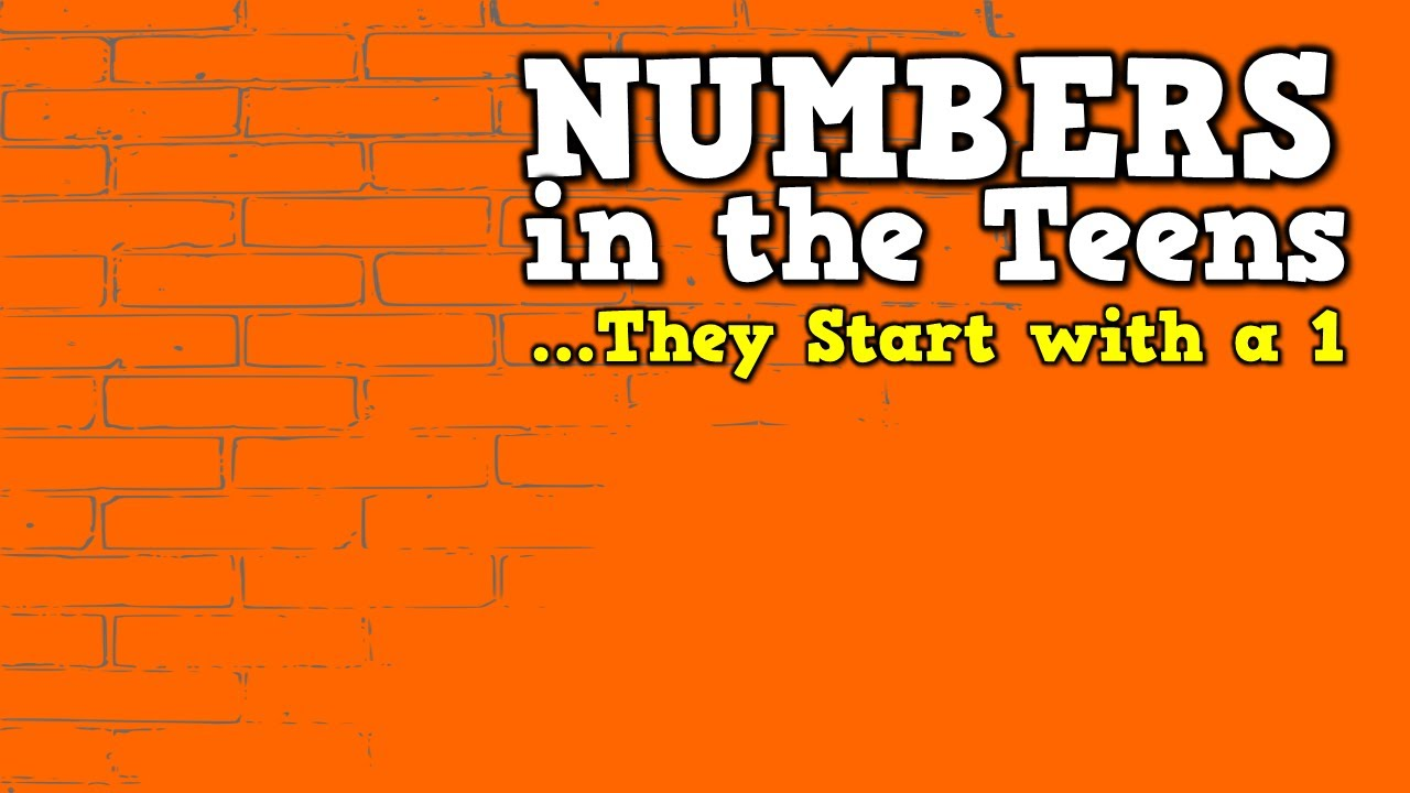 Numbers In Thes They Start With A 1 Song For Kids About Numbers You