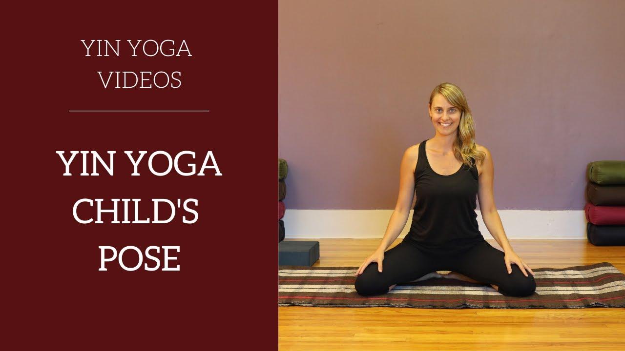 Yoga Posture :: Child's Pose / Balasana with modifications ...