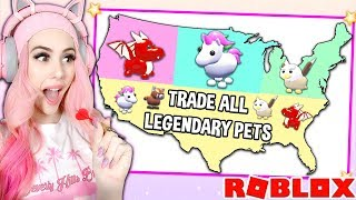 Throwing A DART At A MAP And TRADING Whatever PET It Lands On! Adopt Me Pet Update