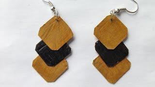 diy easy earrings from waste   best out waste