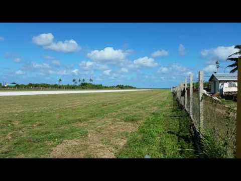 tonga - real tonga airlines is landing on ha'apai airport