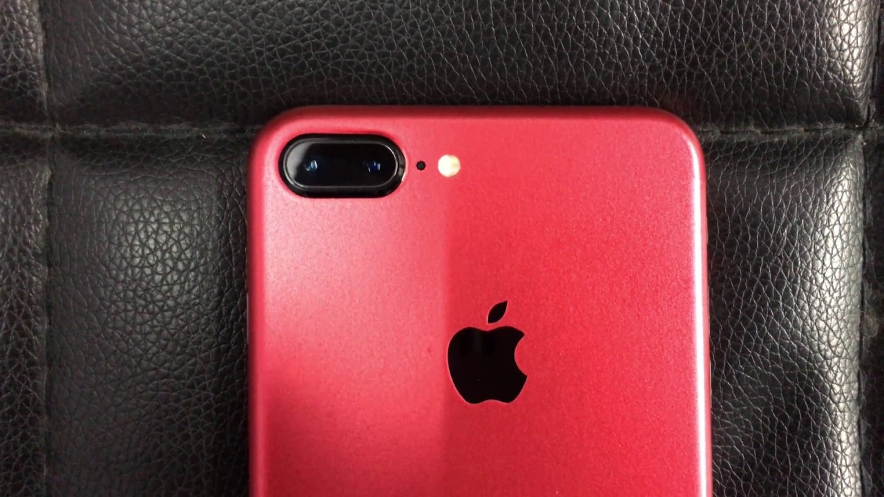 iPhone 7 Plus Custom Product Red Skin - YouTube fe0a84806207