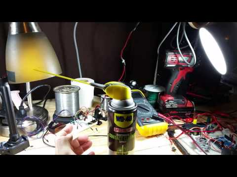 WD40 contact cleaner epic fail