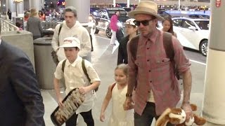 David Beckham And The Children Leave For London