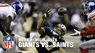 Giants vs. Saints | Week 8 Highlights | NFL