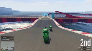 GTA V: Motorcycle Race Win