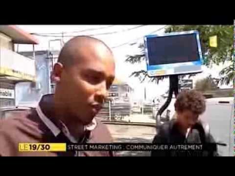 """Reportage TV: """"STREET JAM spécialiste du street marketing aux antilles""""-Guadeloupe 1ère."""