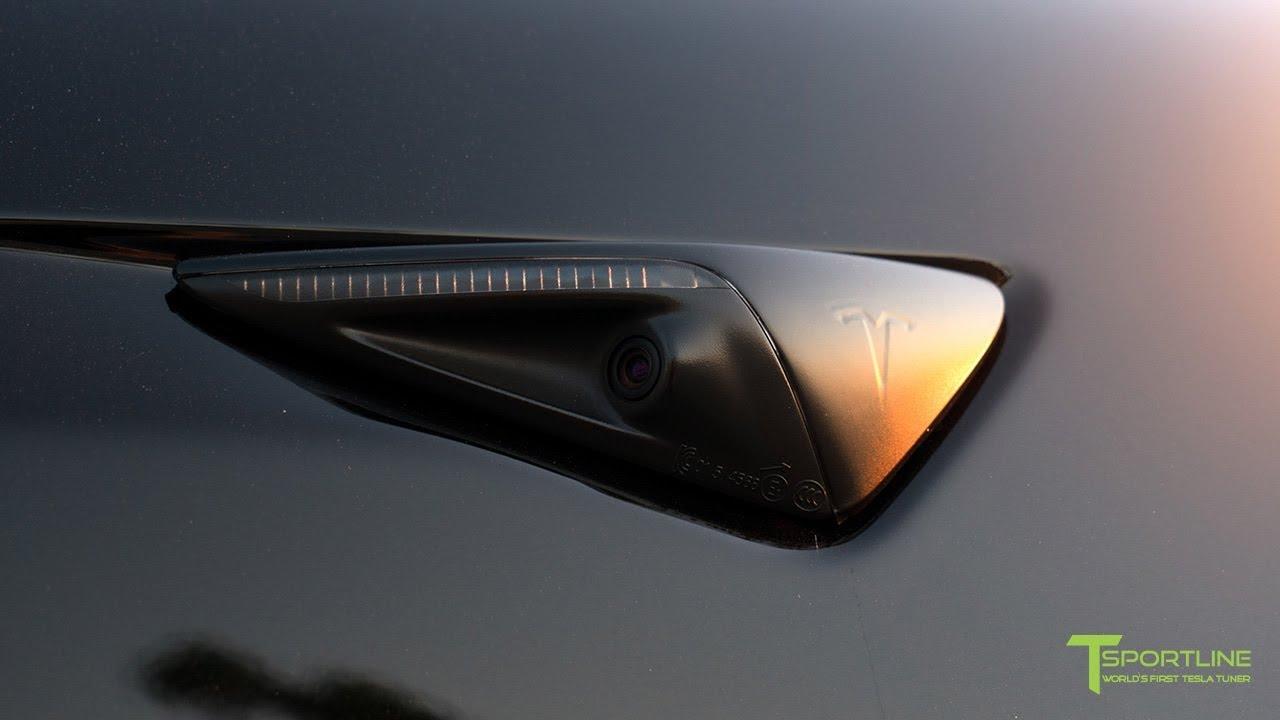 Tesla Model 3 Gets Blacked Out with Red Tesla 'T' Badges