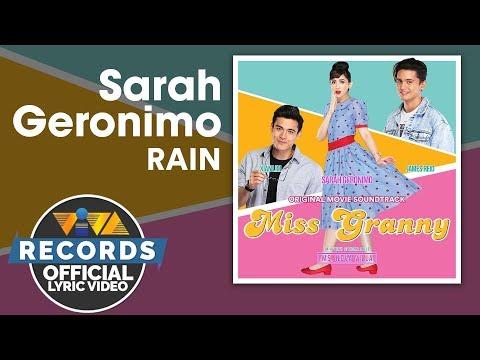 Sarah Geronimo - Rain | Miss Granny OST [Official Lyric Video]