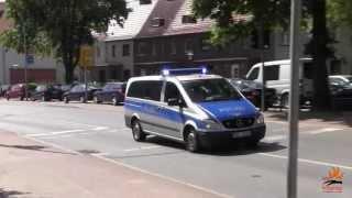 NEF 3 STZ + FuStW Polizei Stralsund