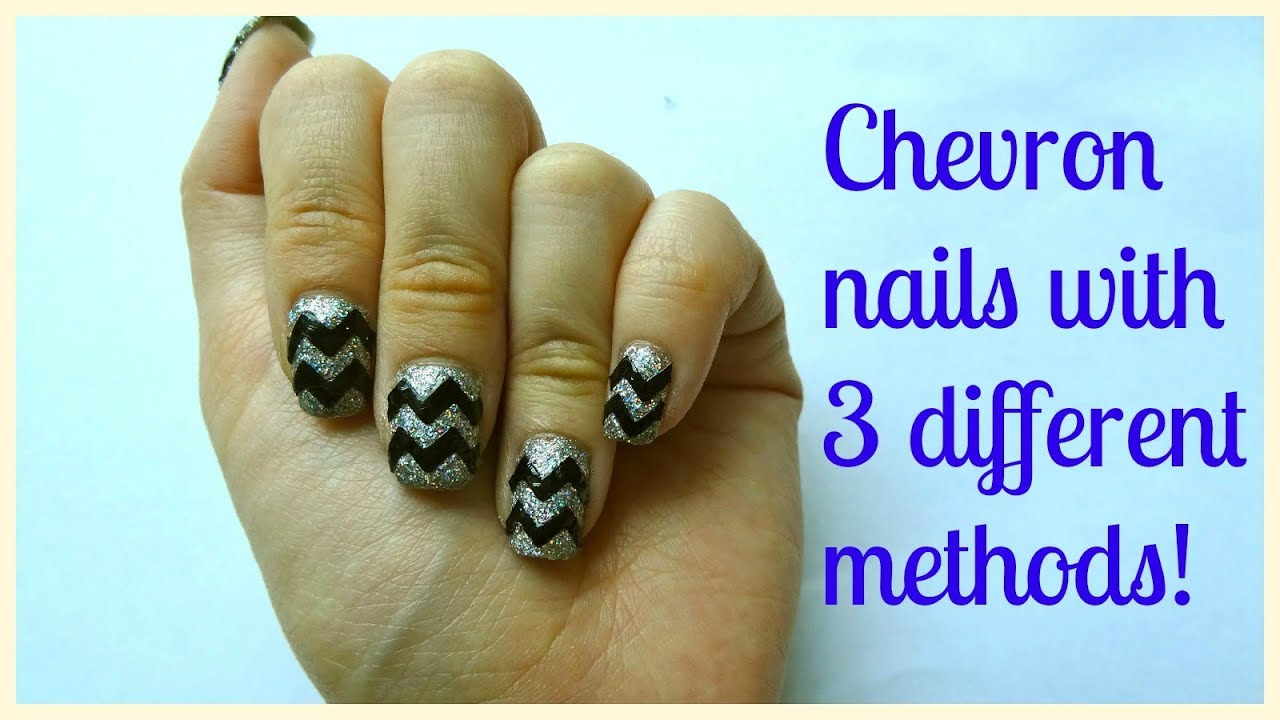 How I Do Chevron Zigzag Nails With 3 Diffe Ways Explained Step By
