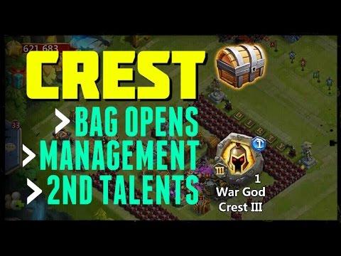 Castle Clash: 100 Crest Bag Opens + Management - Part 1 Of 3