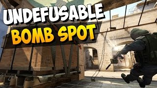CS:GO - Almost Undefusable Bomb Plant Spot on Mirage!