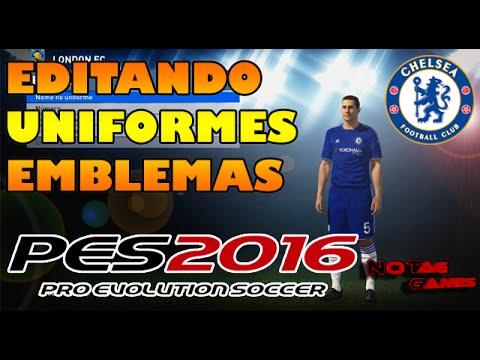 2969d5fc5ce94 PES 2016 - EDITANDO UNIFORMES e EMBLEMAS - TIMES LICENCIADOS. NoTag Games