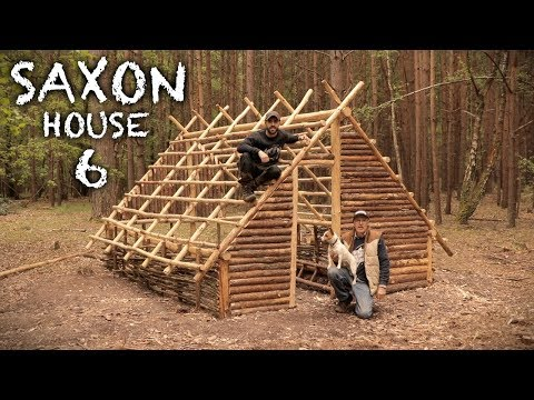 Building A Saxon House With Hand Tools: Front Entrance, Wattle, Walls | Bushcraft Project (PART 6)