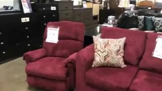 FB Live - Kelly Burgundy & Gray Sectionals + FREE Recliner Deal