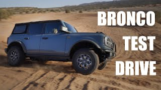 2021 Ford Bronco Trail Ride and First Impressions! On The Sand in Moab, UT With A Baja 1000 Driver.
