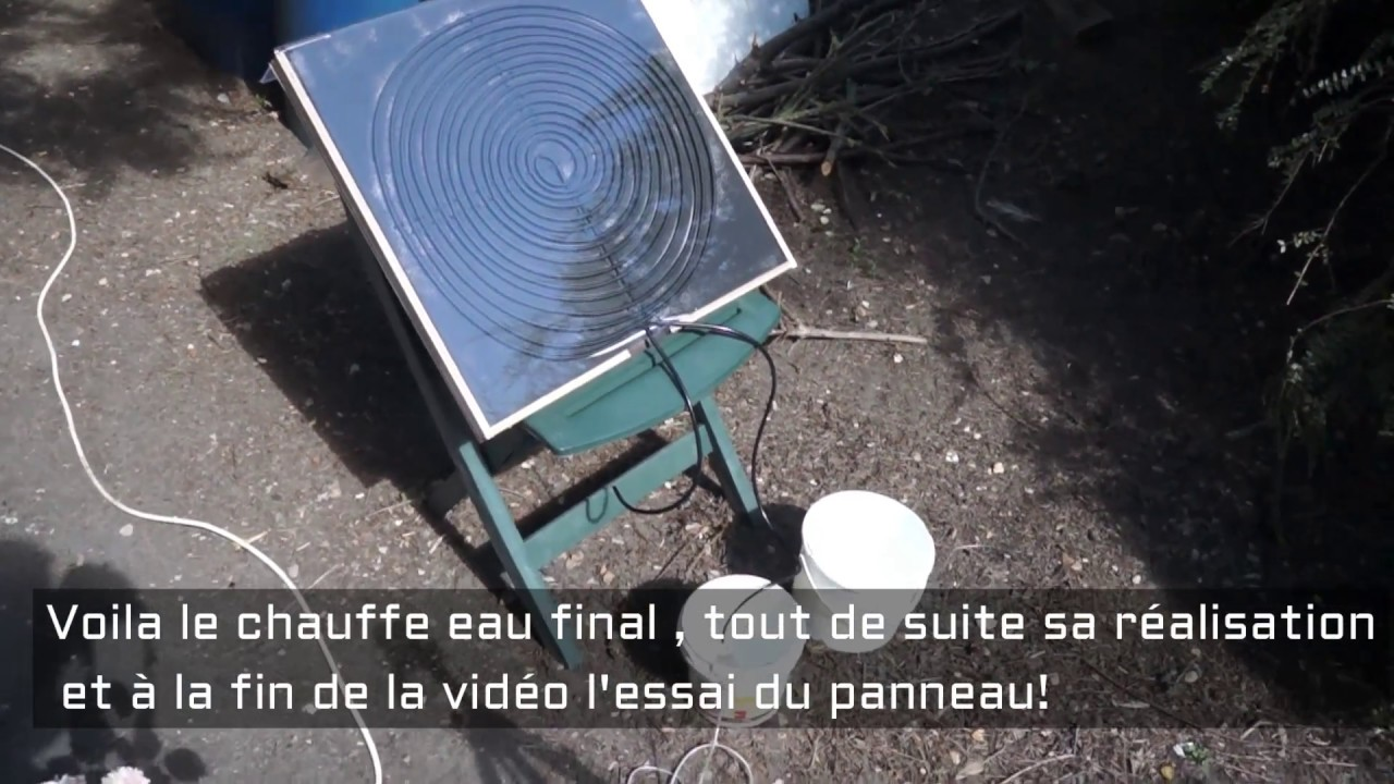 diy petit chauffe eau solaire maison solar water heater. Black Bedroom Furniture Sets. Home Design Ideas