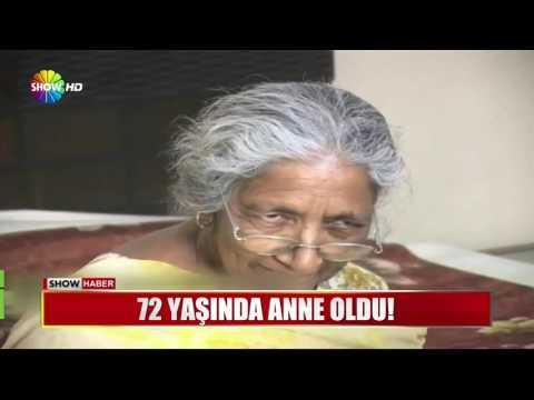 72 yaşında anne oldu!