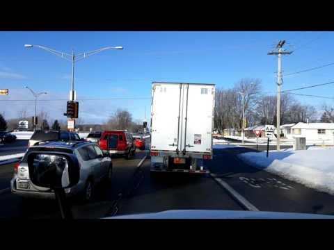 Bigrigtravels Live! - Appleton to Oshkosh, Wisconsin - Interstate 41 - February 1, 2017