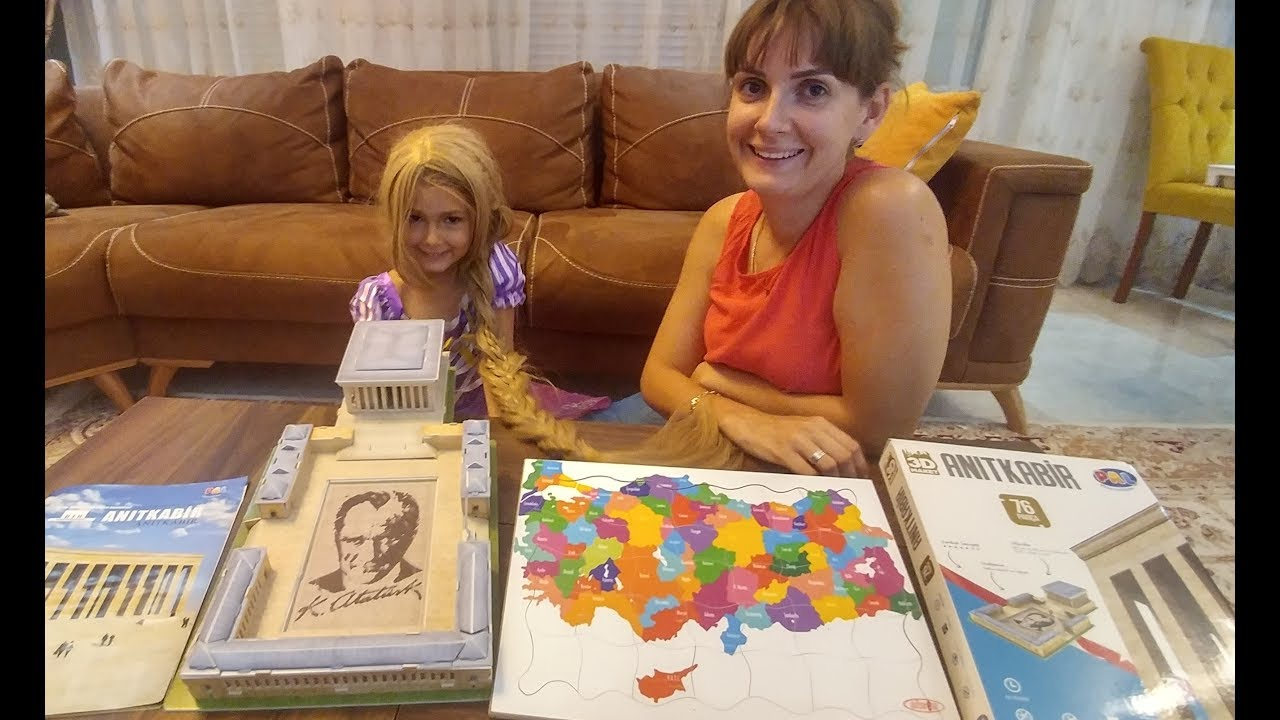 Türkiye tüm iller puzzle ve Anıtkabir 3 boyutlu puzzle oyuncak kutusu açtık, eğlenceli çocuk