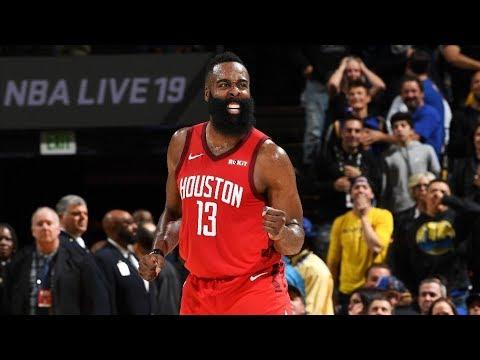 James Harden Game Winner OT vs Warriors! 44 Pts! 2018-19 NBA Season