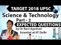 Target 2018 UPSC - Science & Technology Current Affairs - Expected Questions SET 2