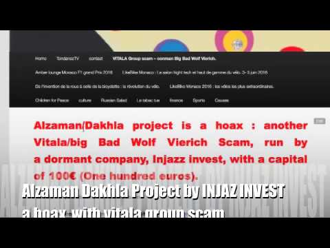 Alzaman Dakhla/ 100€ dormant injaz invest. Vitala group scam Wolf Vierich conman. Saad Boudemagh