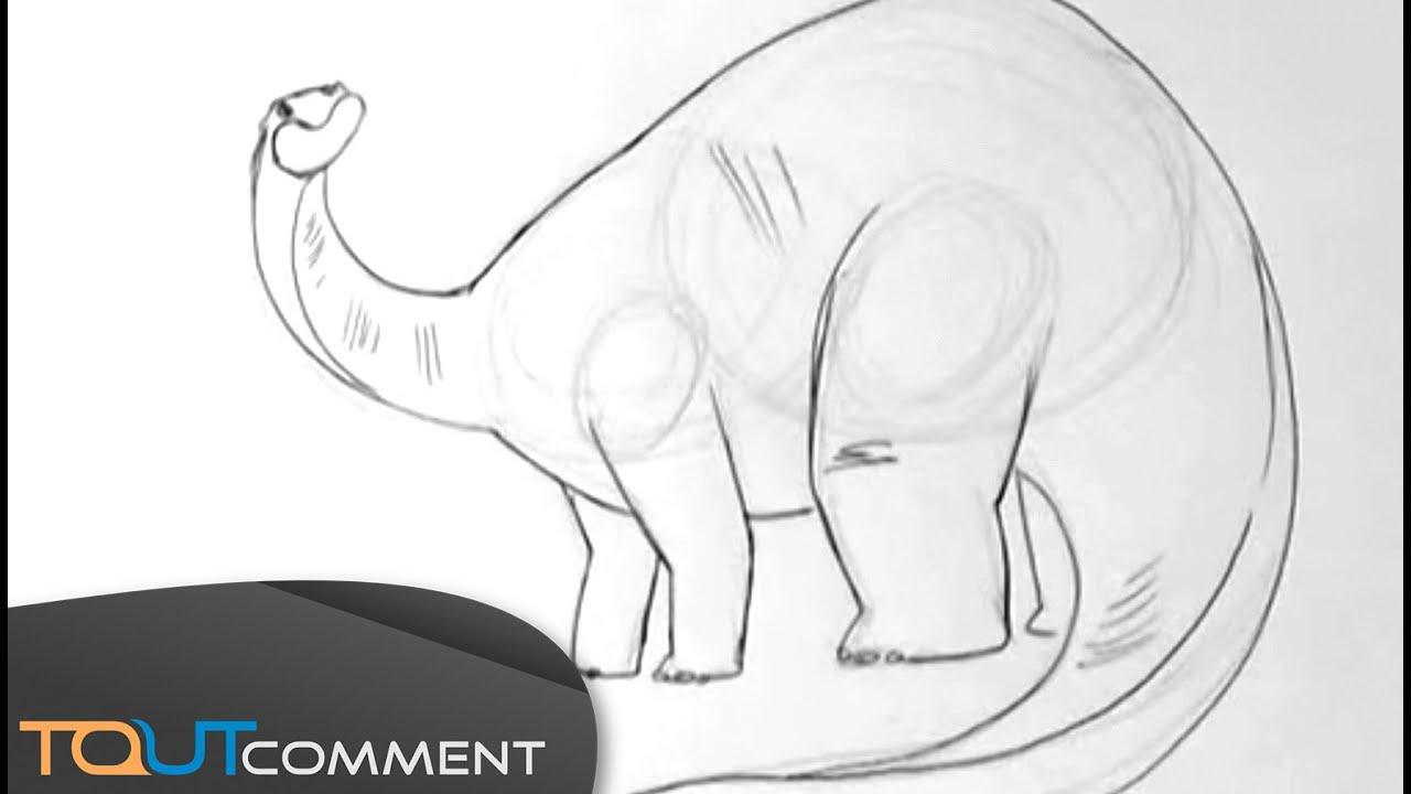 Dinosaure diplodocus dessin - Coloriage diplodocus ...